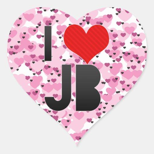 I Love JB Heart Sticker