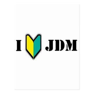 I love JDM Postcard