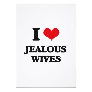 I Love Jealous Wives 5x7 Paper Invitation Card