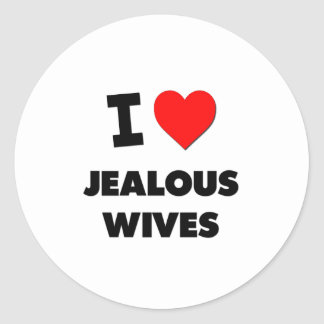 I Love Jealous Wives Stickers