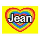 I love Jean. I love you Jean. Heart Postcard