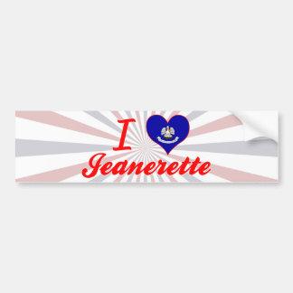 I Love Jeanerette, Louisiana Bumper Sticker
