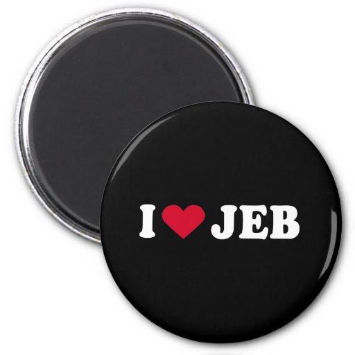 I LOVE JEB 2 INCH ROUND MAGNET