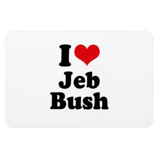 I LOVE JEB BUSH.png Rectangular Photo Magnet