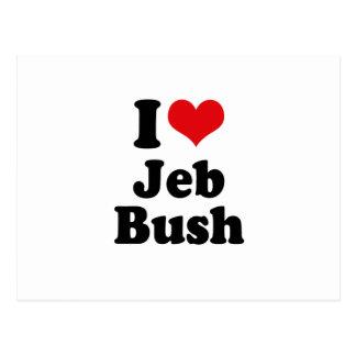 I LOVE JEB BUSH POSTCARD
