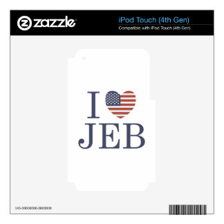 I Love Jeb iPod Touch 4G Skin