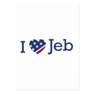 I Love Jeb Postcard
