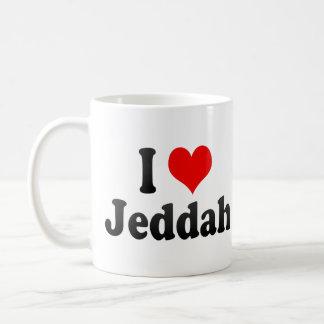 I Love Jeddah, Saudi Arabia Mugs