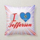I Love Jefferson, Oklahoma Throw Pillow