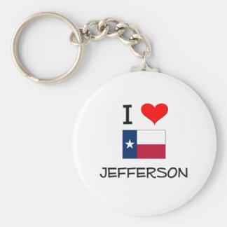 I Love Jefferson Texas Basic Round Button Keychain