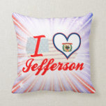 I Love Jefferson, West Virginia Pillows