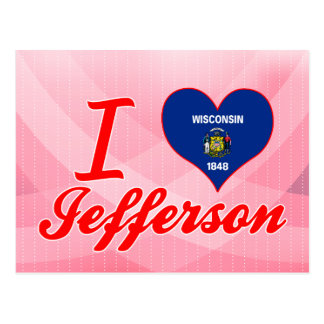 I Love Jefferson, Wisconsin Postcard