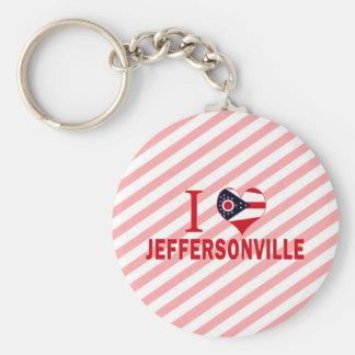 I love Jeffersonville, Ohio Keychains