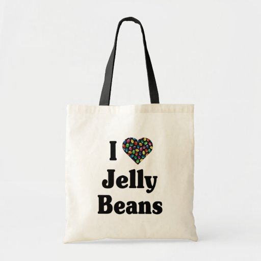 I Love Jelly Beans Tote Bags
