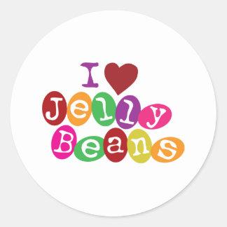 i Love Jellybeans Classic Round Sticker