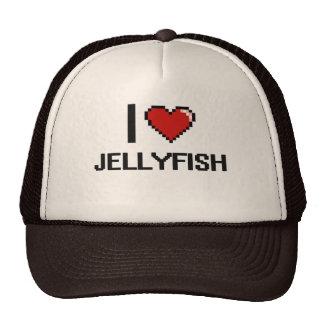 I love Jellyfish Digital Design Trucker Hat