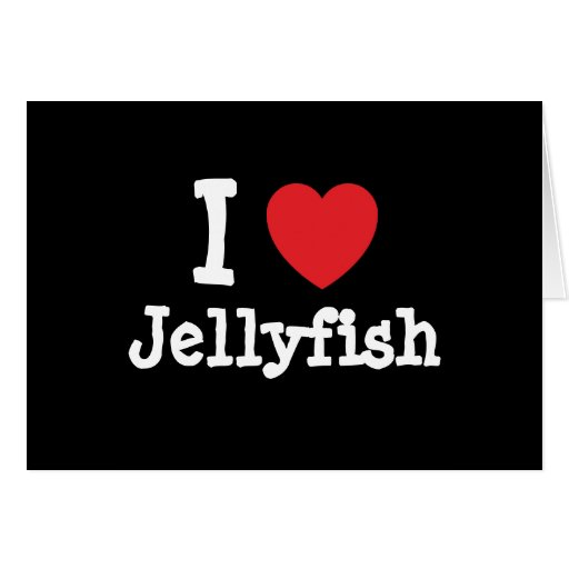 I love Jellyfish heart custom personalized Greeting Card