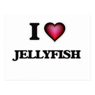 I Love Jellyfish Postcard