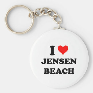 I Love Jensen Beach Florida Keychain