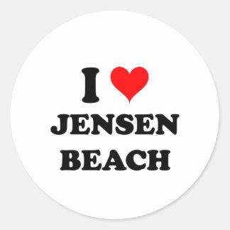 I Love Jensen Beach Florida Round Stickers