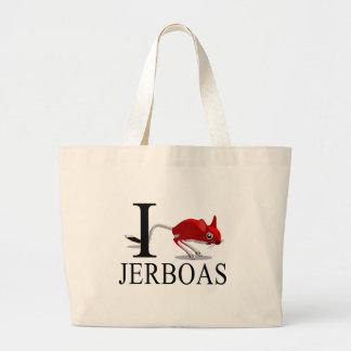 I Love Jerboas Tote Bags