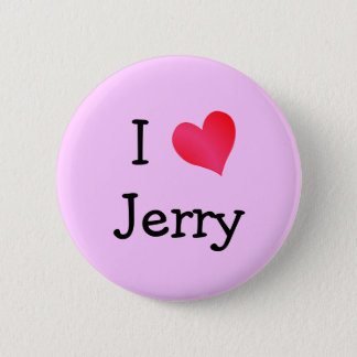 I Love Jerry Pinback Button