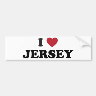 I Love Jersey Car Bumper Sticker