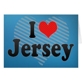 I Love Jersey Card