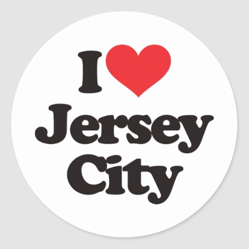I Love Jersey City Classic Round Sticker