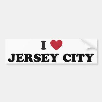 I Love Jersey City New Jersey Bumper Sticker