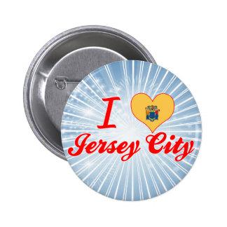 I Love Jersey City New Jersey Pinback Buttons