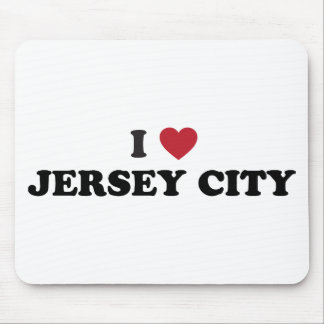 I Love Jersey City New Jersey Mouse Pad