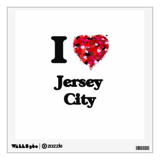 I love Jersey City New Jersey Room Graphic