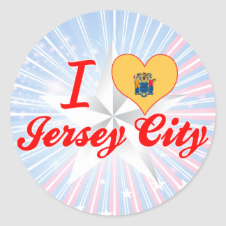 I Love Jersey City, New Jersey Round Sticker