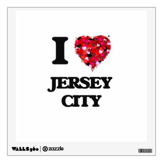 I love Jersey City New Jersey Wall Stickers