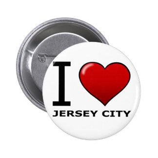 I LOVE JERSEY CITY NJ - NEW JERSEY PIN
