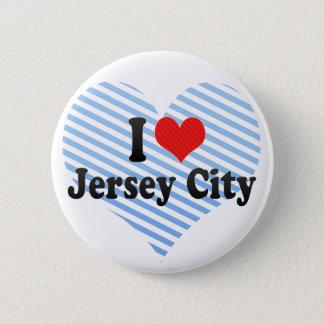 I Love Jersey City Pinback Button