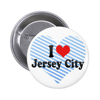 I Love Jersey City Pinback Button