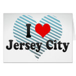 I Love Jersey City, United States Greeting Card