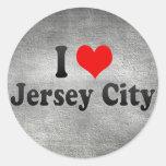 I Love Jersey City, United States Round Sticker