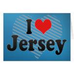 I Love Jersey Greeting Card