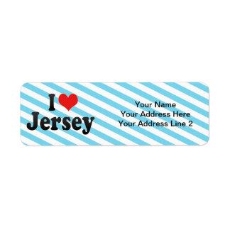 I Love Jersey Label