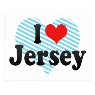 I Love Jersey Postcard