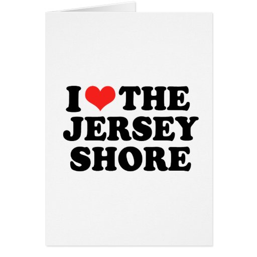 I Love Jersey Shore Cards