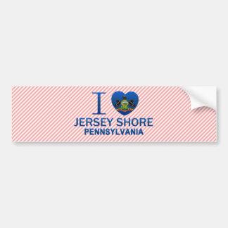 I Love Jersey Shore, PA Bumper Sticker