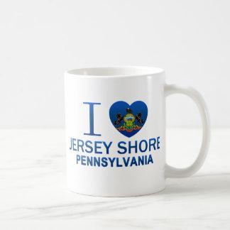 I Love Jersey Shore, PA Coffee Mugs