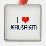 I Love Jerusalem Christmas Ornaments