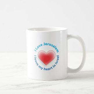 I Love Jerusalem -  I leave my heart in Israel Coffee Mug