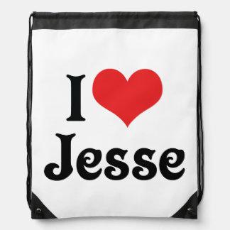 I Love Jesse Drawstring Bag
