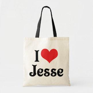 I Love Jesse Tote Bag
